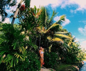 girls, summer, and tropical image