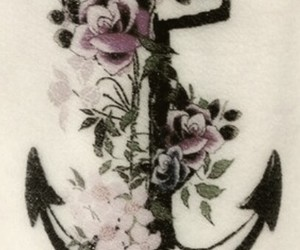 anchor, black, and heart it image