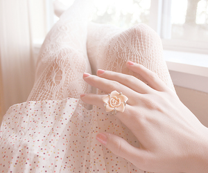 ring, pink, and lace image