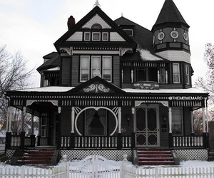 house, home, and black image