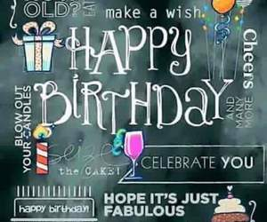 birthday, celebration, and congratulations image