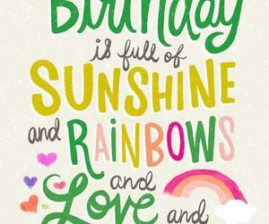 birthday, happy birthday, and rainbow image