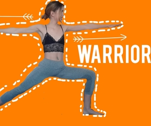 fit, orange, and pose image