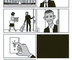obama, sad, and barack obama image