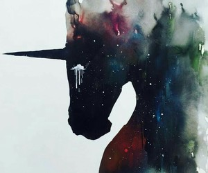 unicorn, art, and wallpaper image
