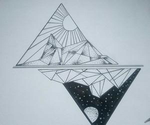 black n white, drawings, and fashion image
