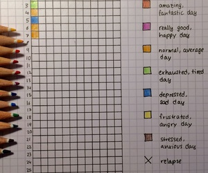 bullet journal, year in pixels, and officialani image