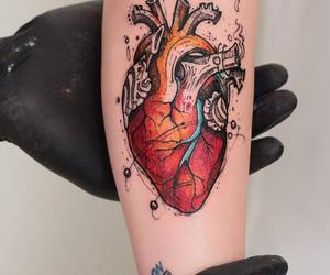 heart, tattoo, and art image