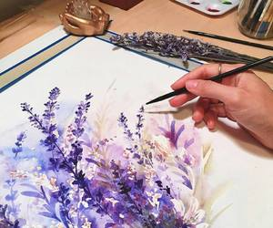 artist, watercolor, and drawing image