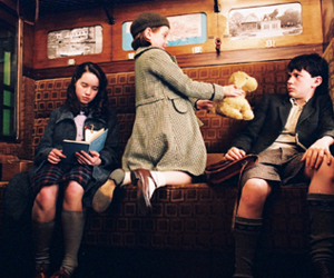 anna popplewell, georgie hanley, and skandar keynes image