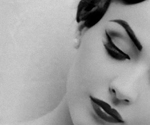 black and white, vintage, and makeup image