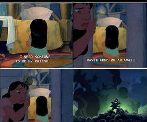 funny, friends, and lilo and stitch image