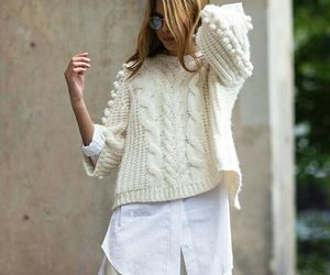 fashion, knit, and white image