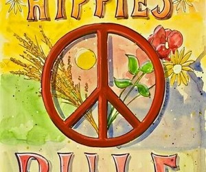 hippie, peace, and wallpapers image