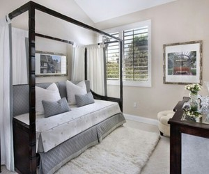 bedroom, canopy, and decor image