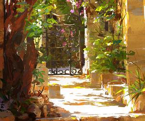 art, flowers, and light image