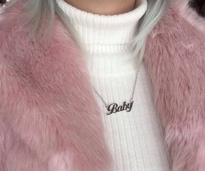 pink, baby, and white image