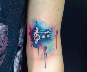 blue, pink, and tatoo image