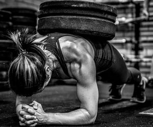black and white, fitness, and workout image