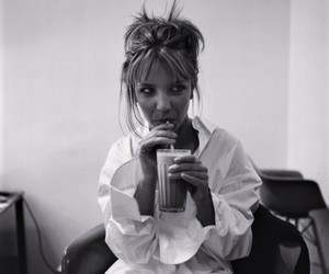 black and white, young, and britney spears image