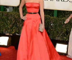actress, dress, and golden globe awards image