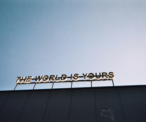 world, sky, and quotes image