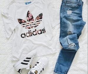 adidas, fashion, and look image