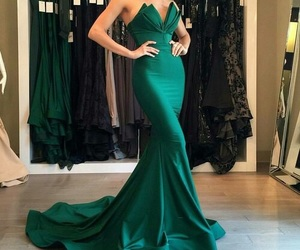 green dress image