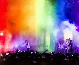 the 1975, concert, and matty healy image
