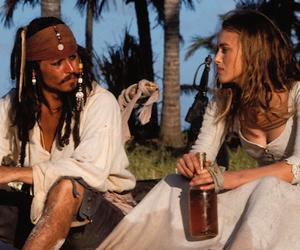 johnny depp, jack sparrow, and pirates of the caribbean image