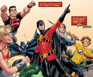 teen titans, superboy, and wally west image