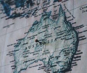 map, adventure, and australia image