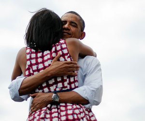 michelle obama, obama, and love image