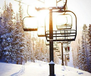 snow, winter, and Skiing image