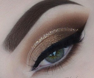makeup, eyeshadow, and brown image