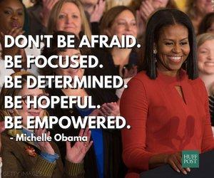 michelle obama, quote, and love image