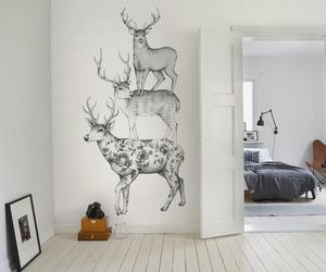 room and deer image