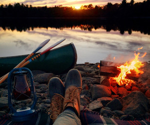 nature, fire, and travel image