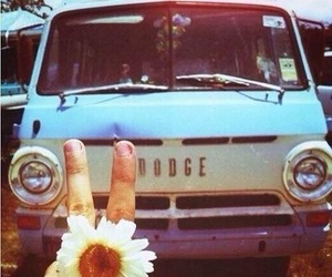 peace, love, and car image