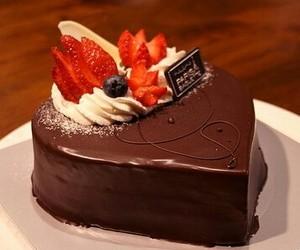 chocolate, cake, and food image