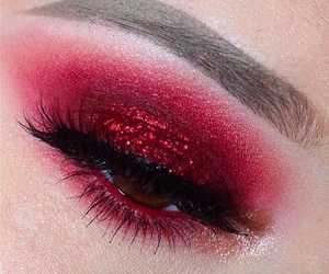 red, makeup, and eyeshadow image
