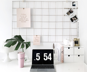 decor, desk, and room image