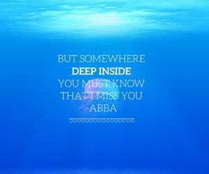Abba, blue, and deep image