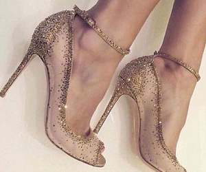 girly, glitter, and heels image