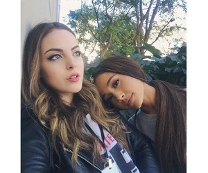 ariana grande, elizabeth gillies, and women's march image