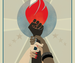 girl and women's march image