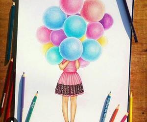 art, crayons, and pink image