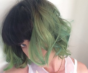 beauty, hair, and green image
