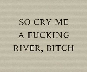 bitch, cry, and text image