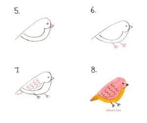 bird, drawing, and how to image